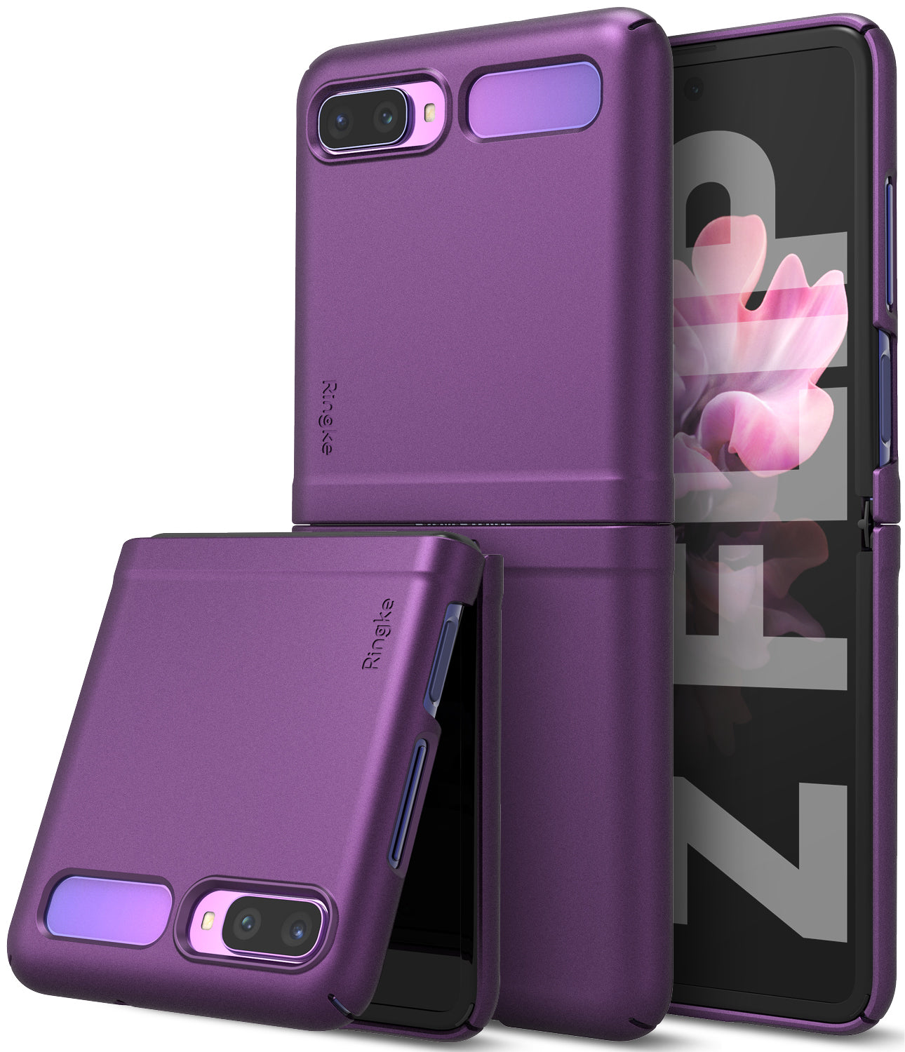 samsung galaxy z flip case metallic purple