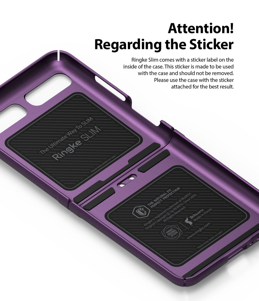 samsung galaxy z flip case do not remove the sticker on the inside