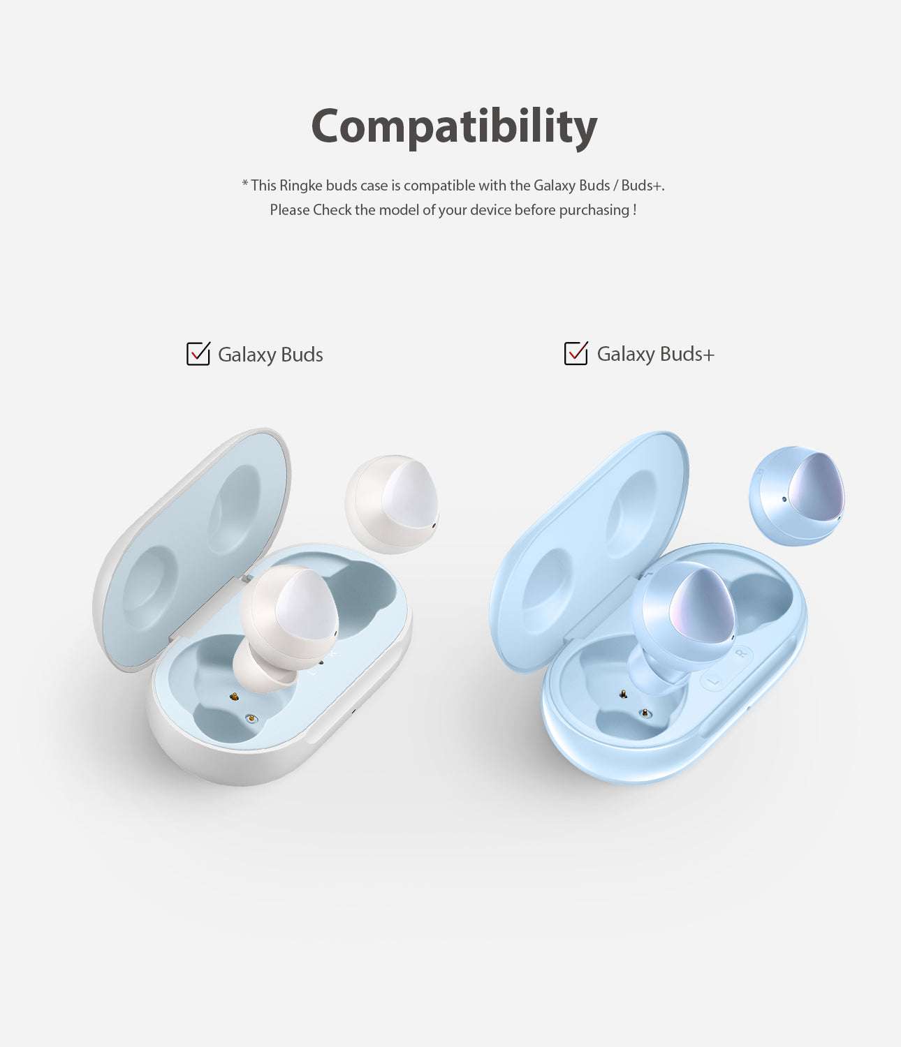 ringke galaxy buds / buds plus case - sky blue