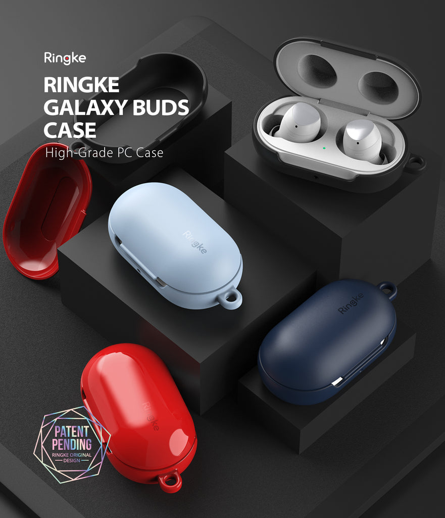ringke galaxy buds / buds plus case - glossy red