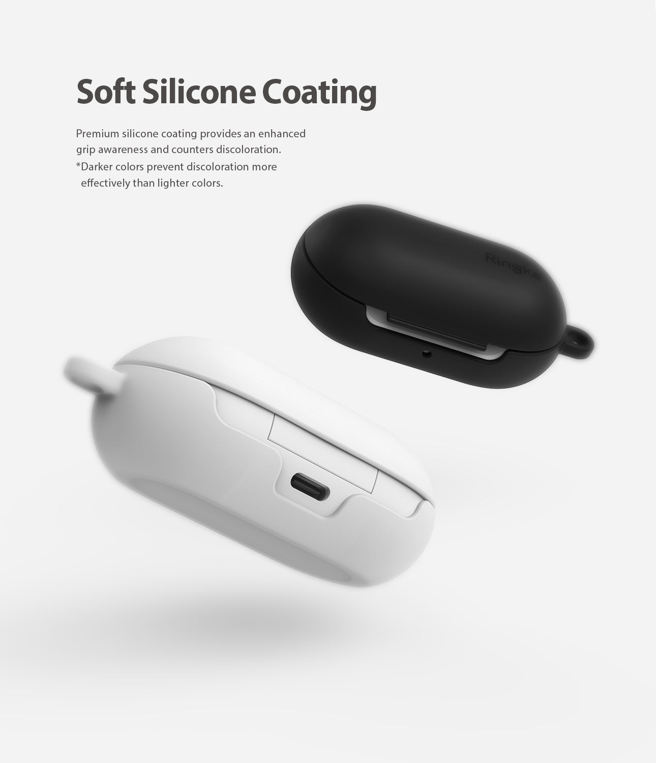 soft silicone coating provides enhanced grip
