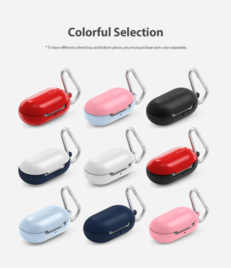 Galaxy Buds Case, Ringke, samsung, colorful selection, Carabiners