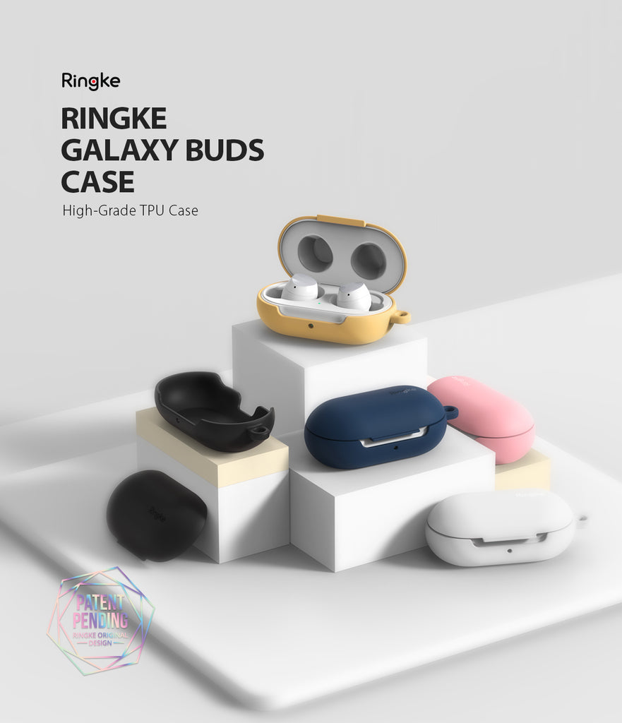 ringke galaxy buds and buds plus case made with soft feeling coated tpu for maximum protection with sleek profile available in various color options