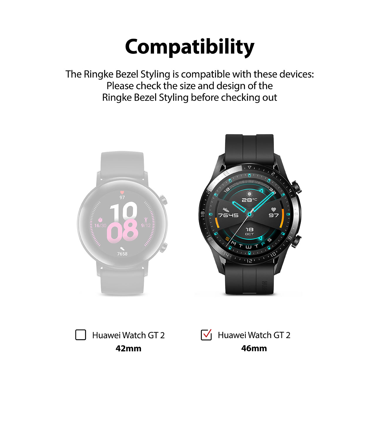 only compatible with huawei gt 2 46mm