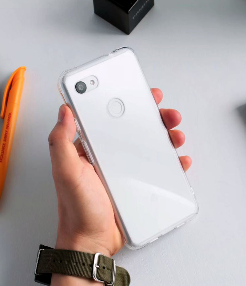 Google Pixel 3a XL, Ringke Fusion Case, Clear, Grip