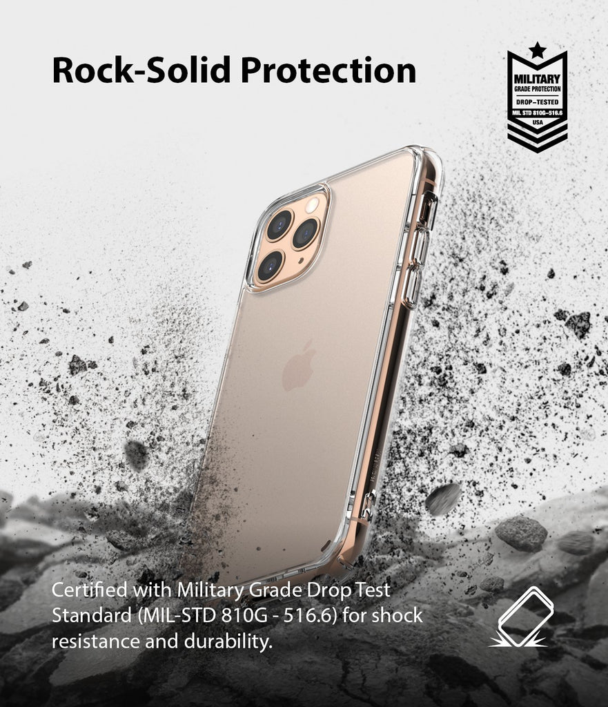 Ringke Fusion Matte Compatible with iPhone 11 Pro Case frost clear drop protection