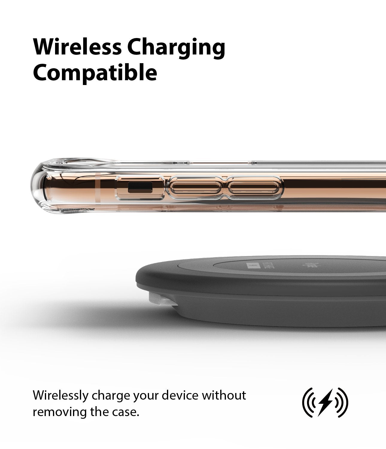 Ringke Fusion Matte Compatible with iPhone 11 Pro Case frost clear wireless charger compatible