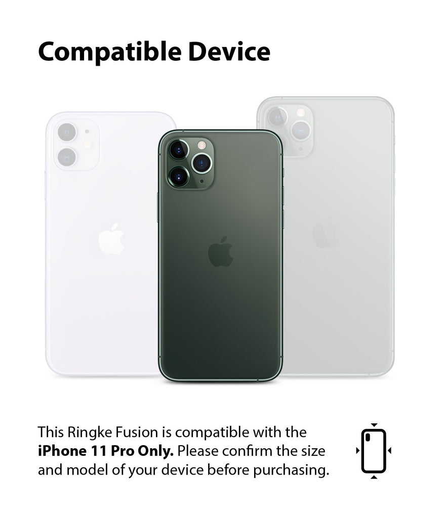 Ringke Fusion Matte Compatible with iPhone 11 Pro Case frost clear