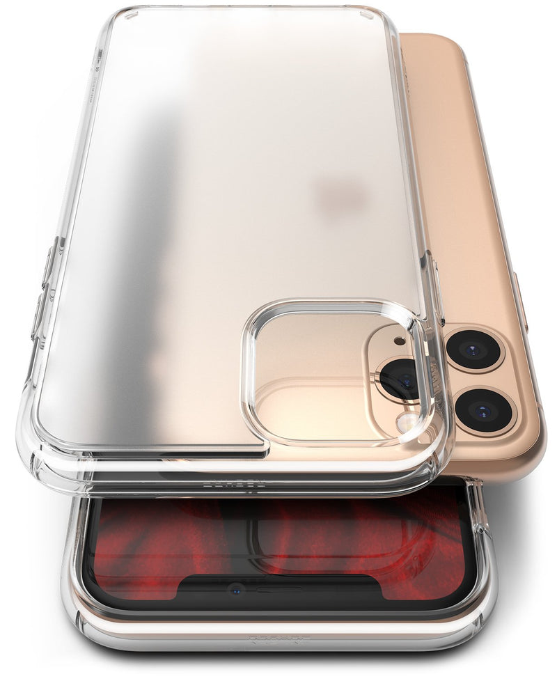 Ringke Fusion Matte Compatible with iPhone 11 Pro Case, frost clear