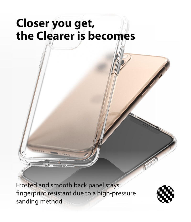 Ringke Fusion Matte Compatible with iPhone 11 Pro Max Case (2019) - Clear