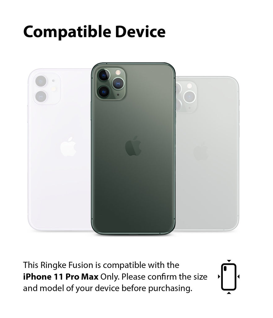 Ringke Fusion Matte Compatible with iPhone 11 Pro Max Case compatibility