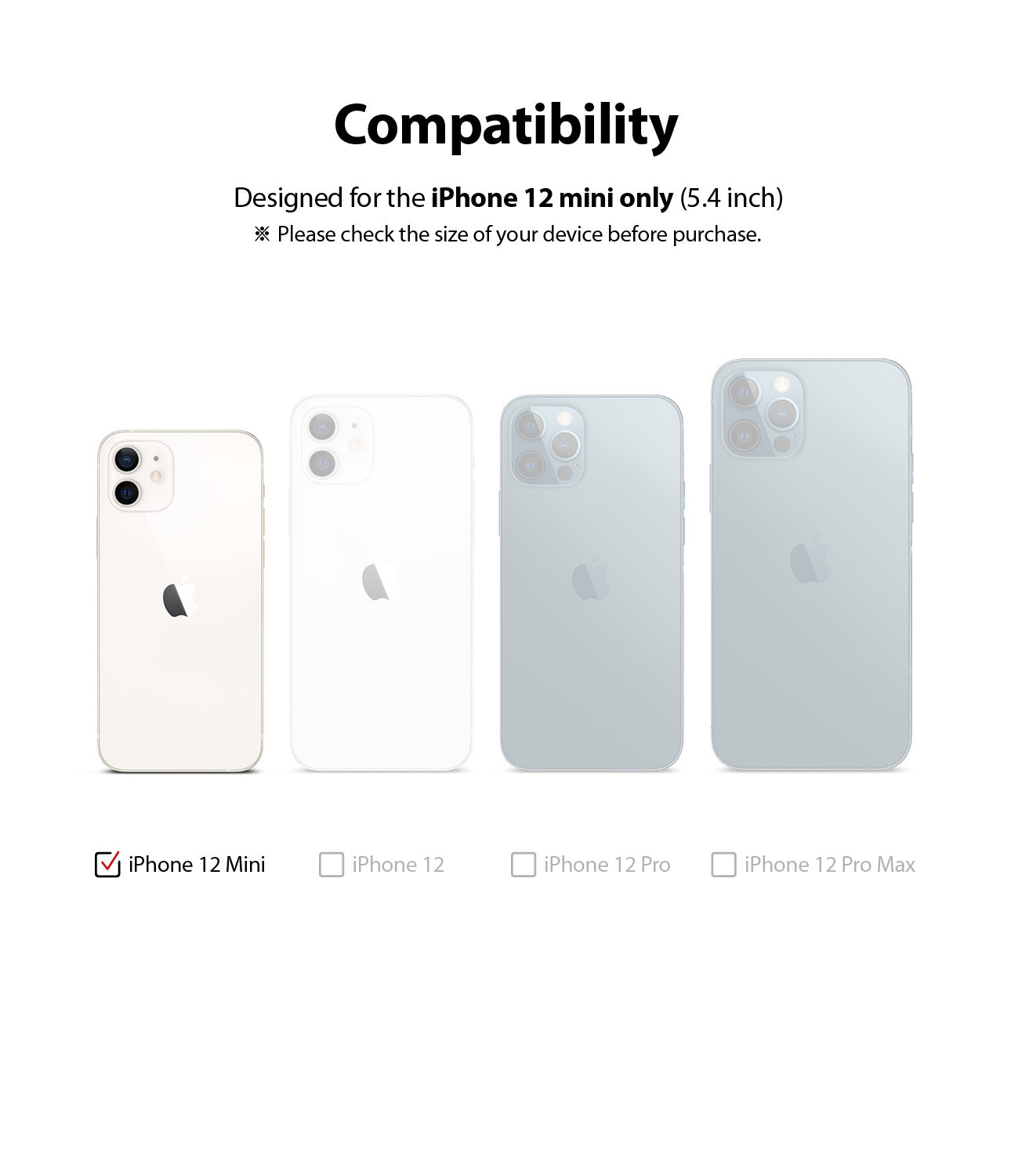 only compatible with iphone 12 mini
