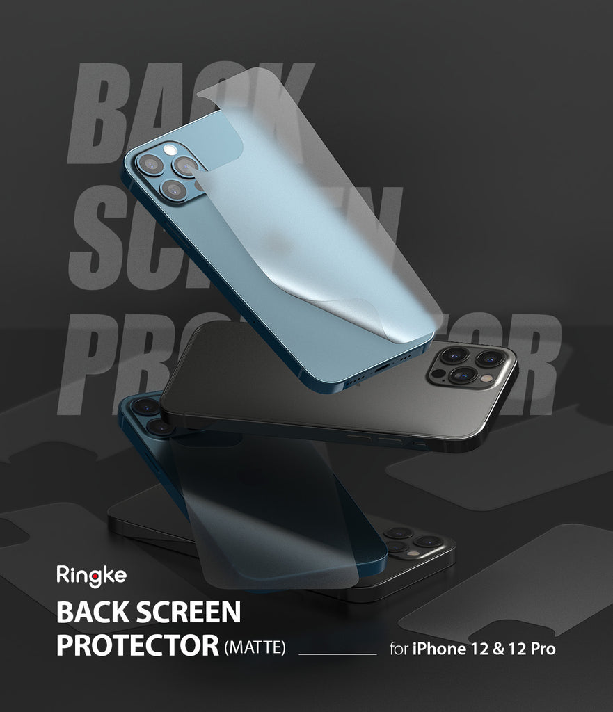 ringke invisible defender iphone 12 pro / 12  back screen protector
