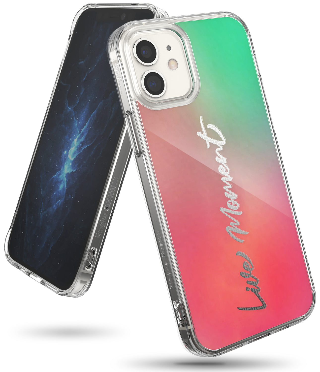 iphone 12 case, iphone 12 pro case - ringke fusion design - live moment