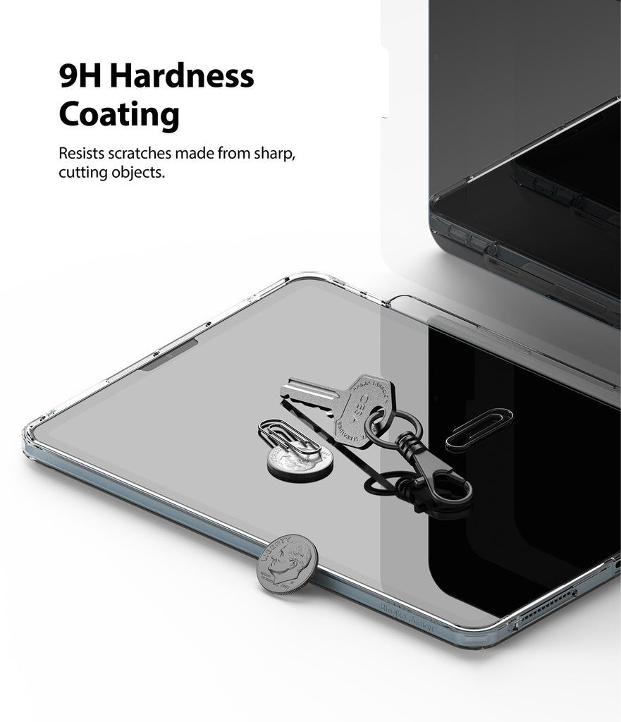 9H hardness coating resists scratches made from sharp, cutting objects