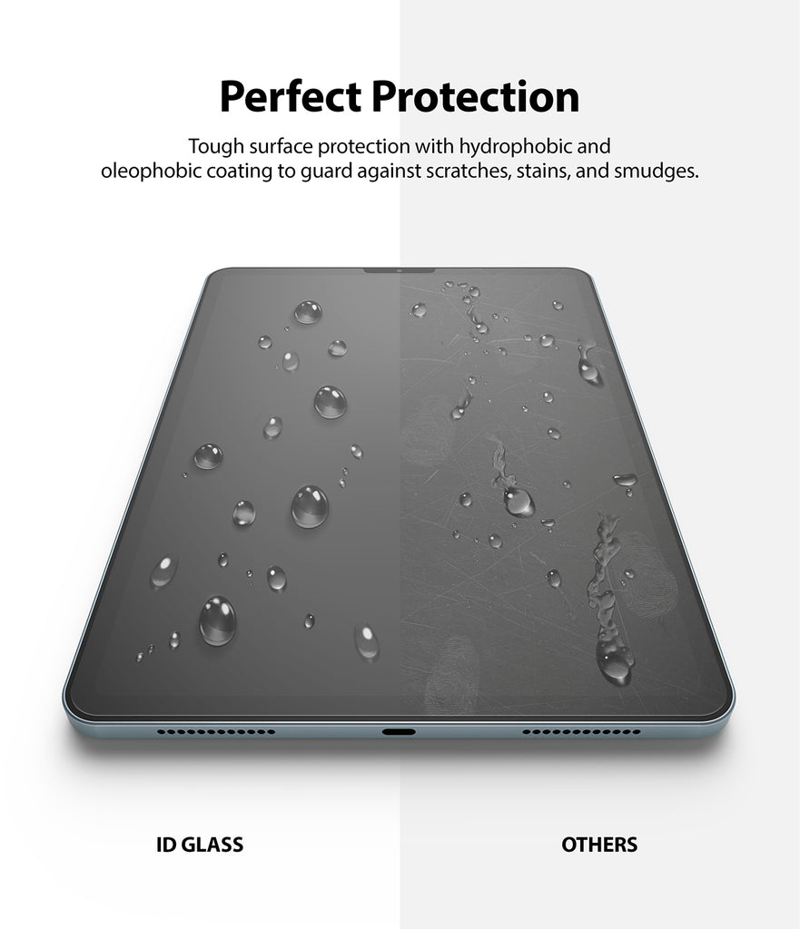 perfect protection - tough surface protection with hydrophobic, oleophobic coating
