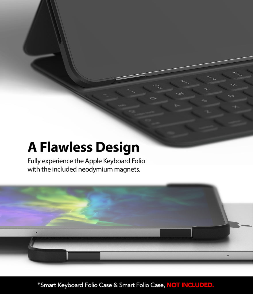 fully experience the apple folio / keyboard folio with the included neodyum magnets