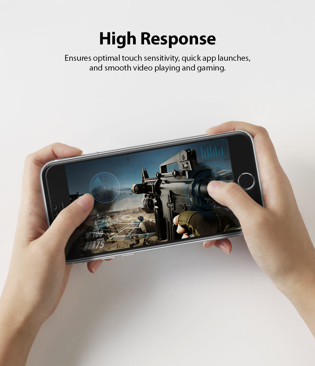 high response to ensure optimal touch sensitivity