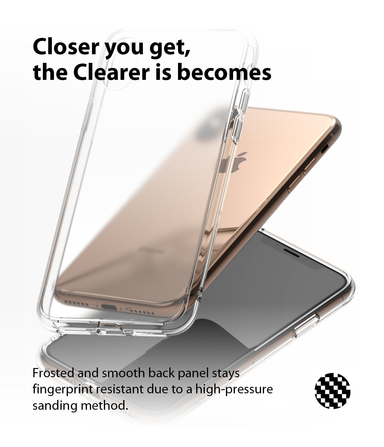 ringke fusion matte for apple iphone xs case cover clear back