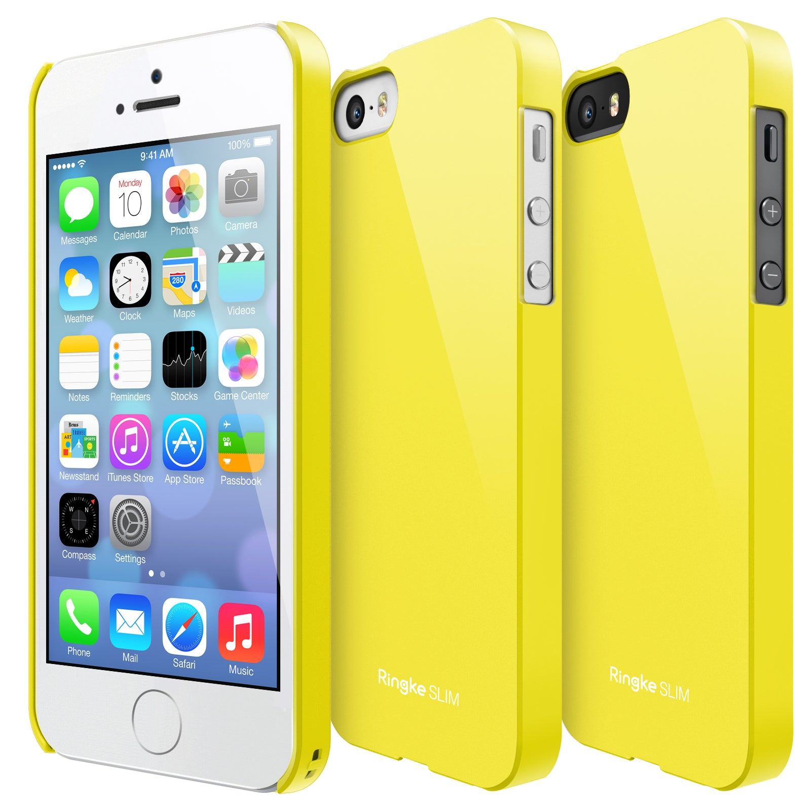 ringke slim lightweight hard pc thin case cover for iphone se 5s 5 main lf yellow