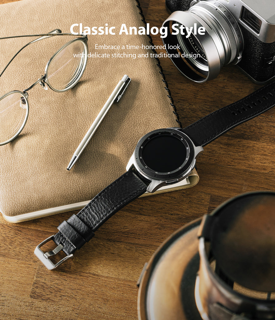classic analog style - embradce a time-honored look with delicate stitching and traditional design