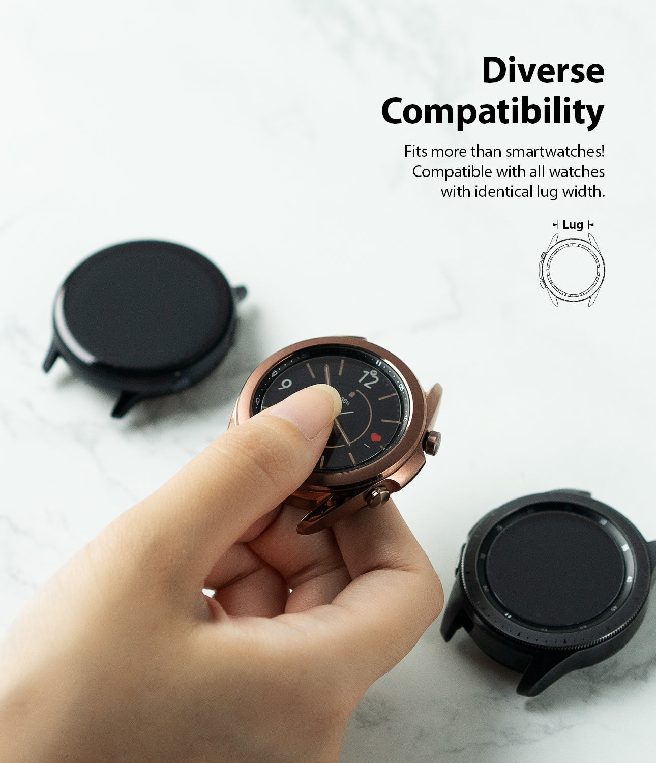 diverse compatibility  - also compatible with same lug sized classic watches