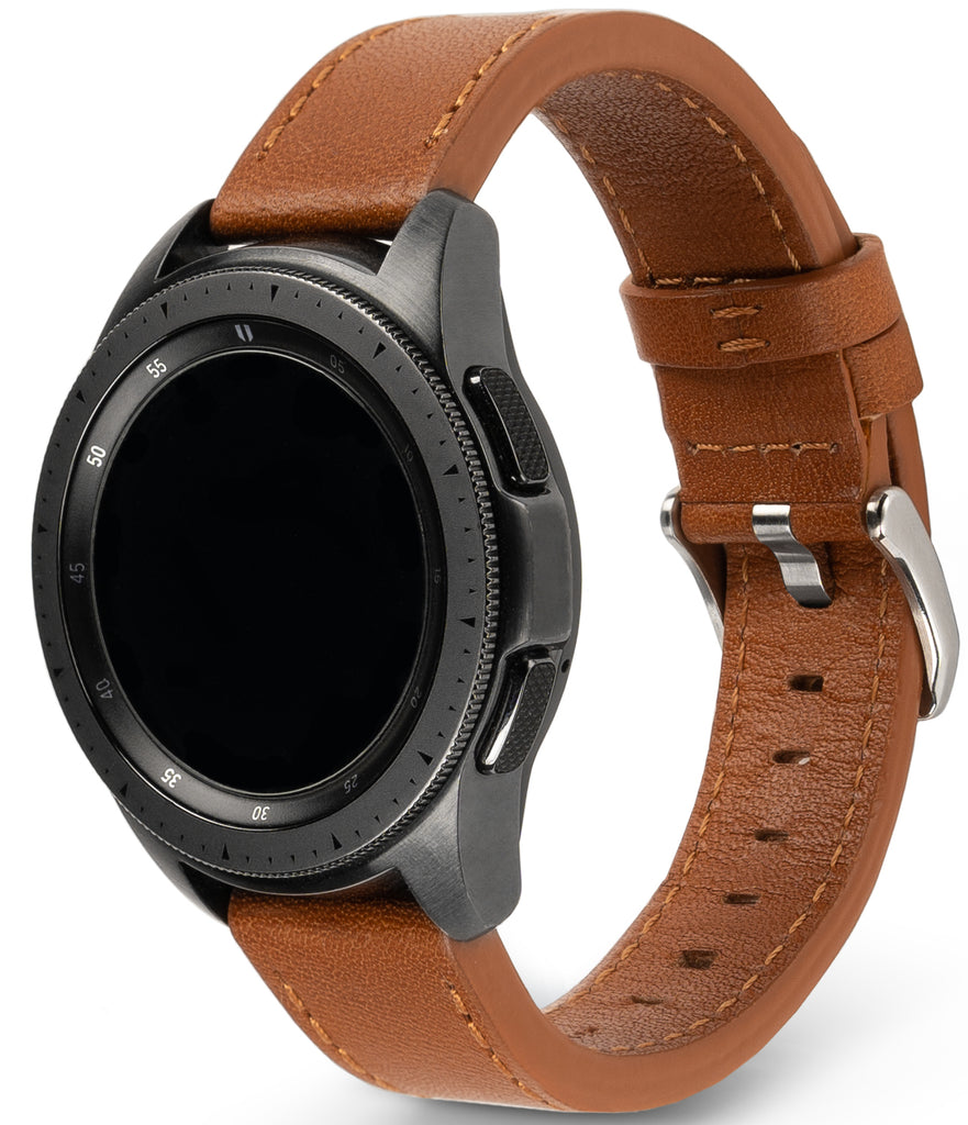 smartwatch band - ringke leather one classic band for watch lug size 20mm - compatible with glaaxy watch 3 41mm | galaxy watch 42mm | galaxy watch active 2 44mm