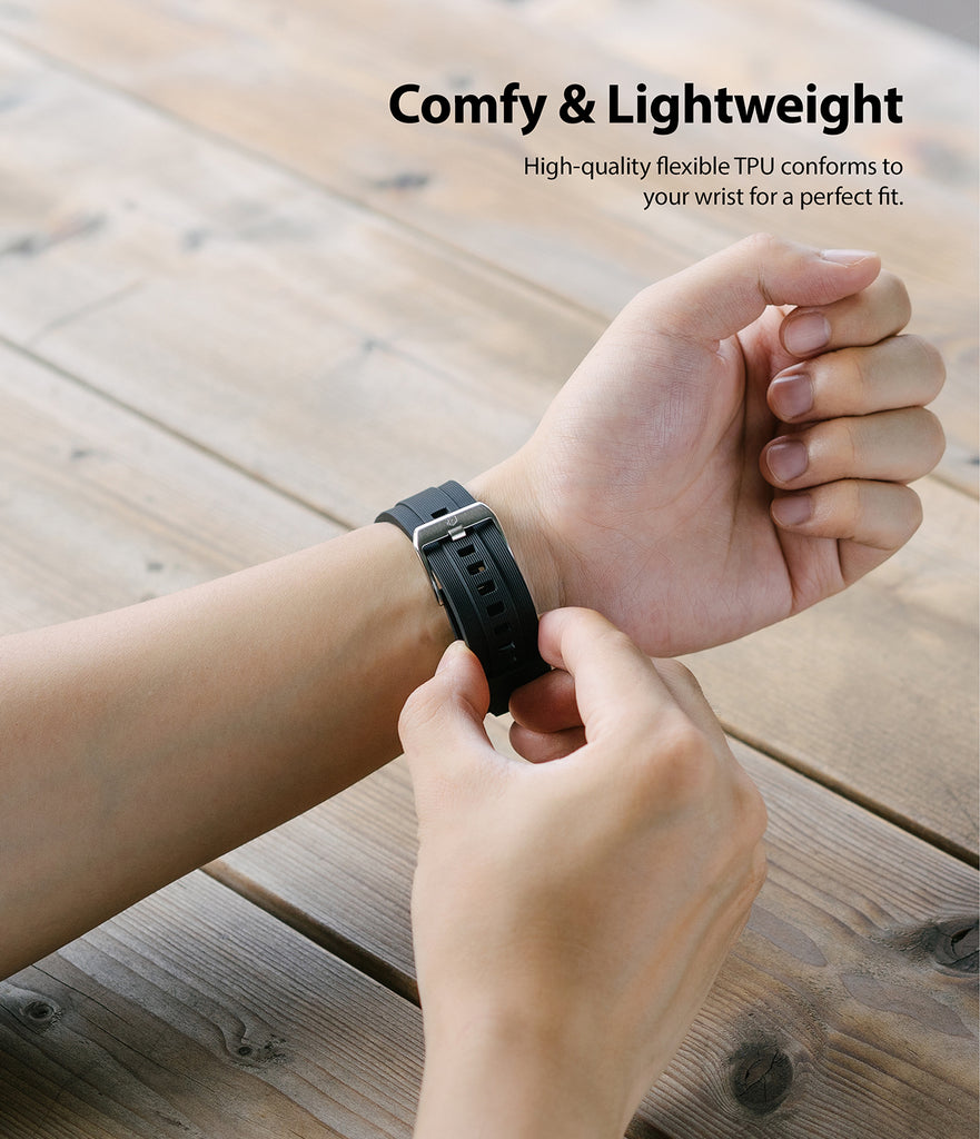 high quality flexible tpu conforms to your wrist for a perfect fit