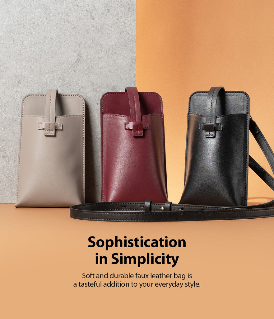 sophistication in simplicity - soft and durable faux leather bag is a tasteful addition to your everyday style.