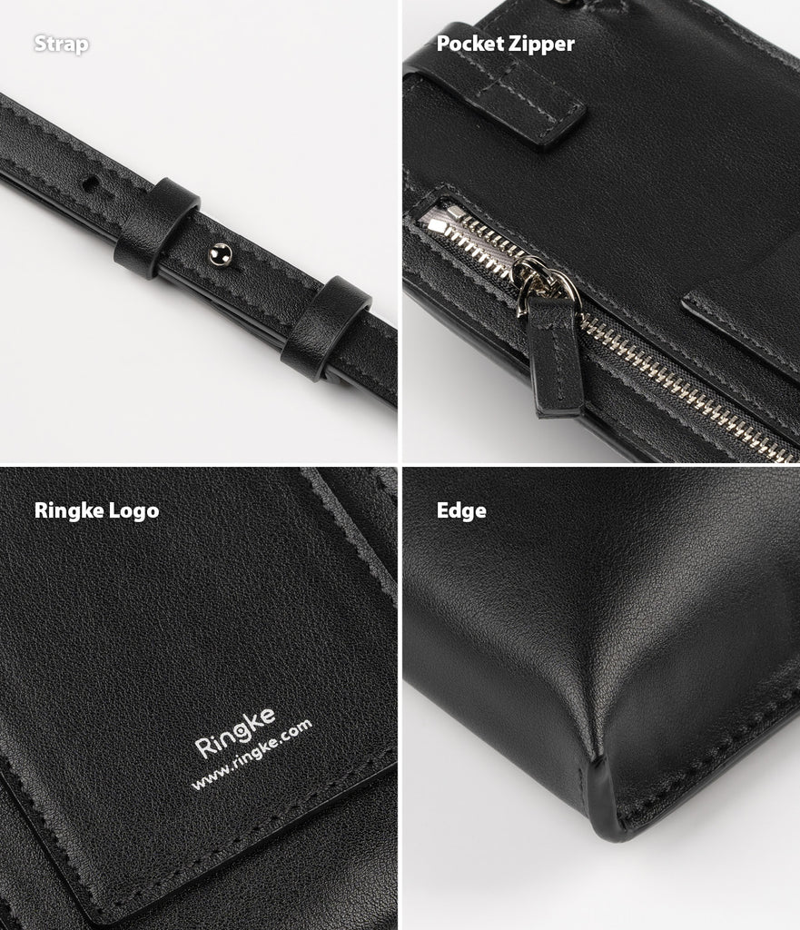 ringke mini cross bag pu leather for smart devices