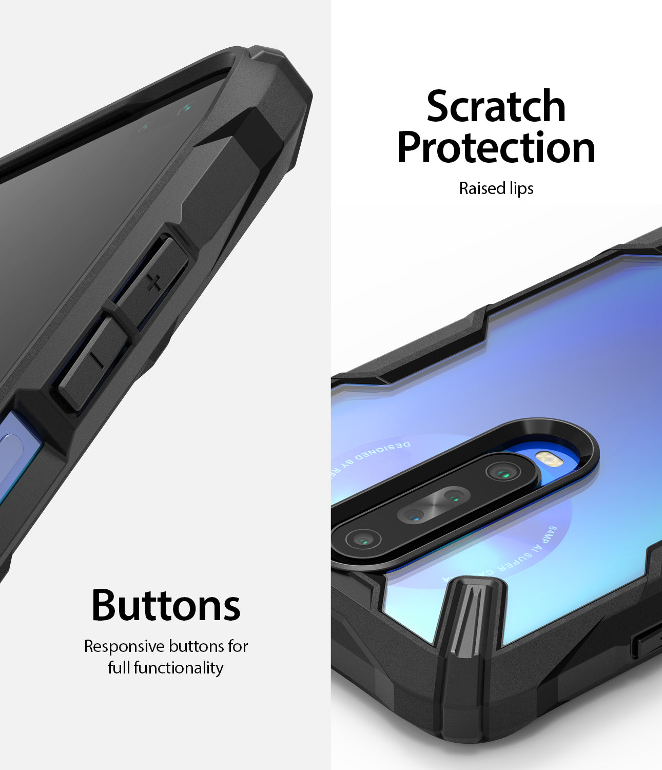 responsive buttons and scratch protection