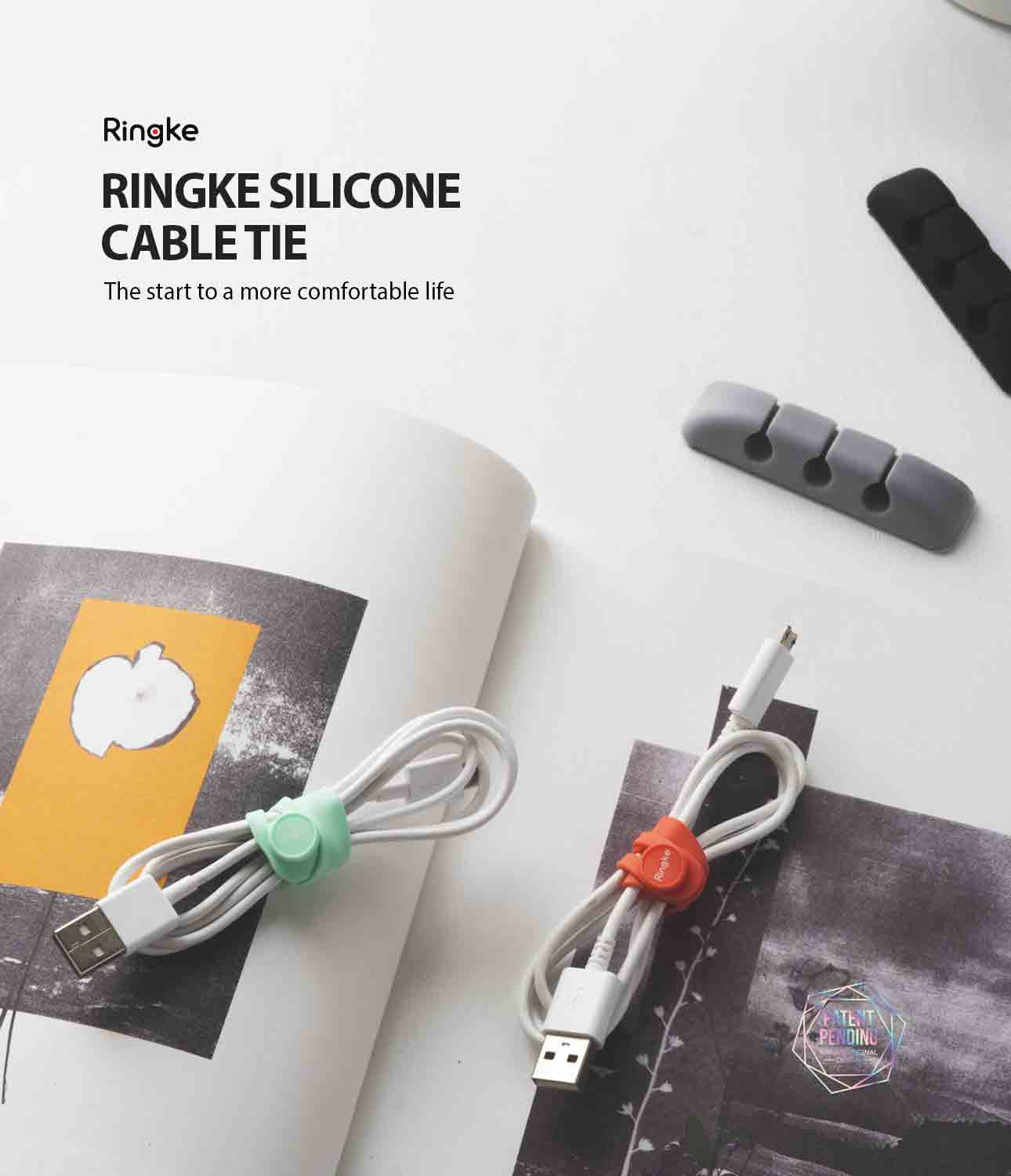 Ringke Cable Tie Silicone (15 Pack)