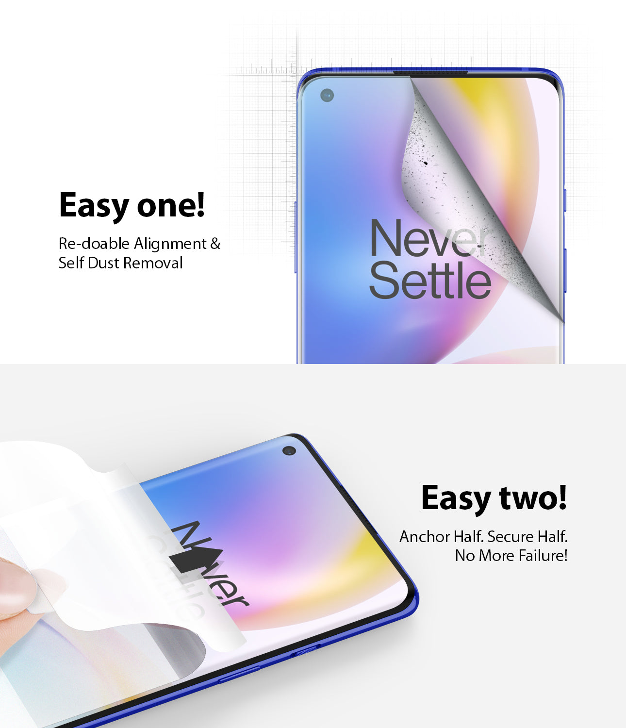 oneplus 8 pro screen protector - ringke dual easy film wing