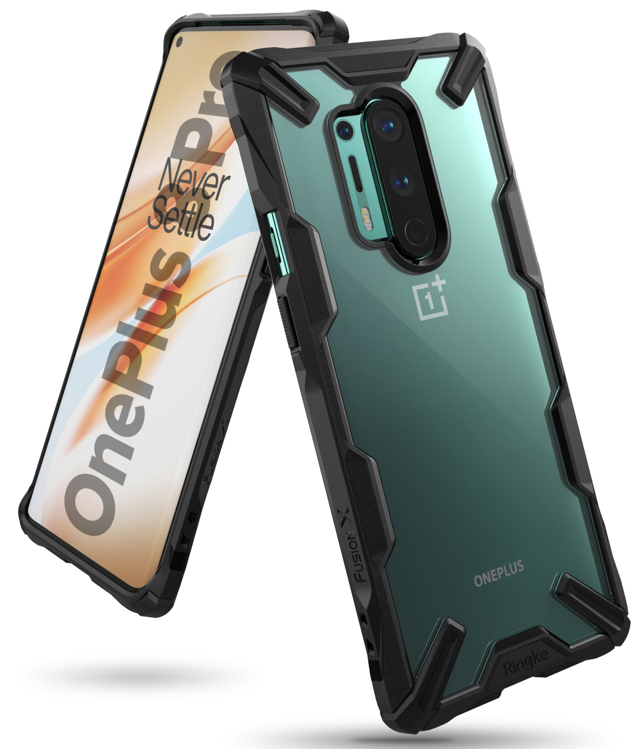 ringke fusion-x case for oneplus 8 pro - black