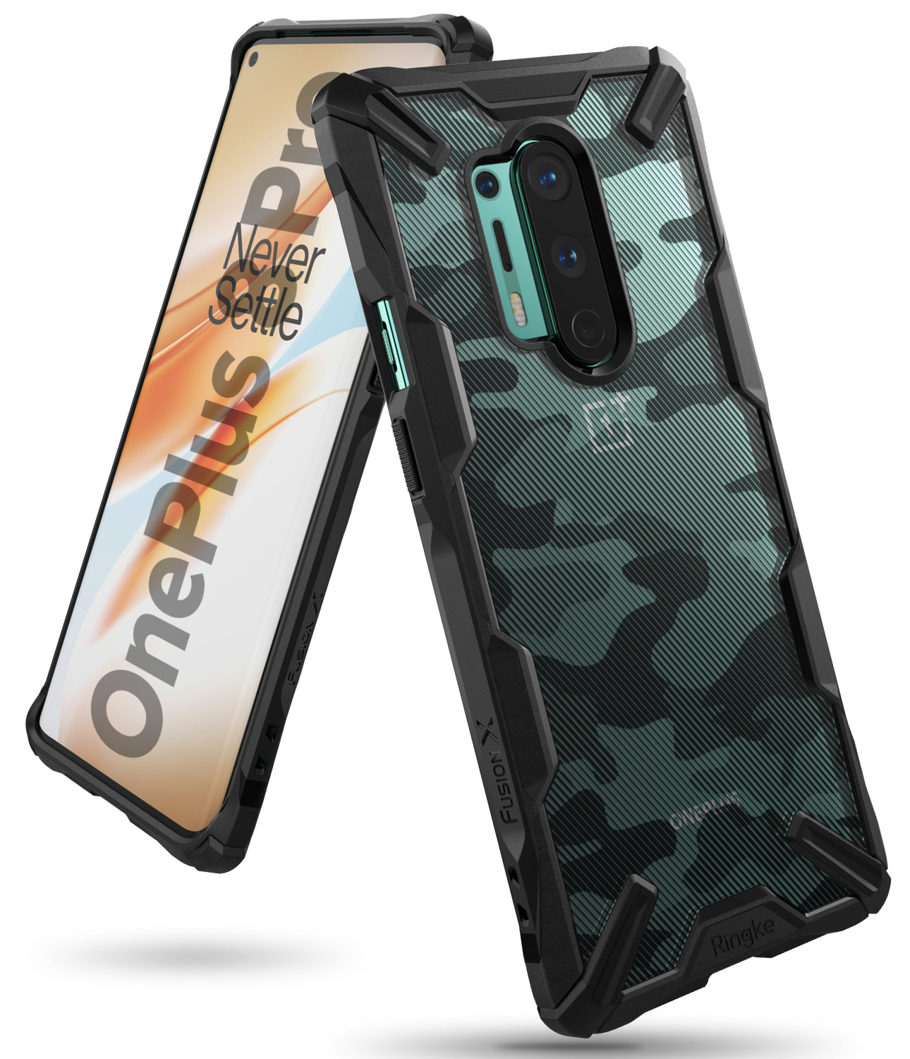 ringke fusion-x case for oneplus 8 pro - camo black