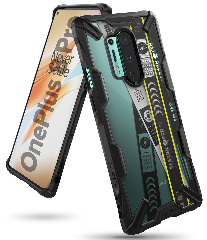 oneplus 8 pro case - ringke fusion x design 01 ticket band