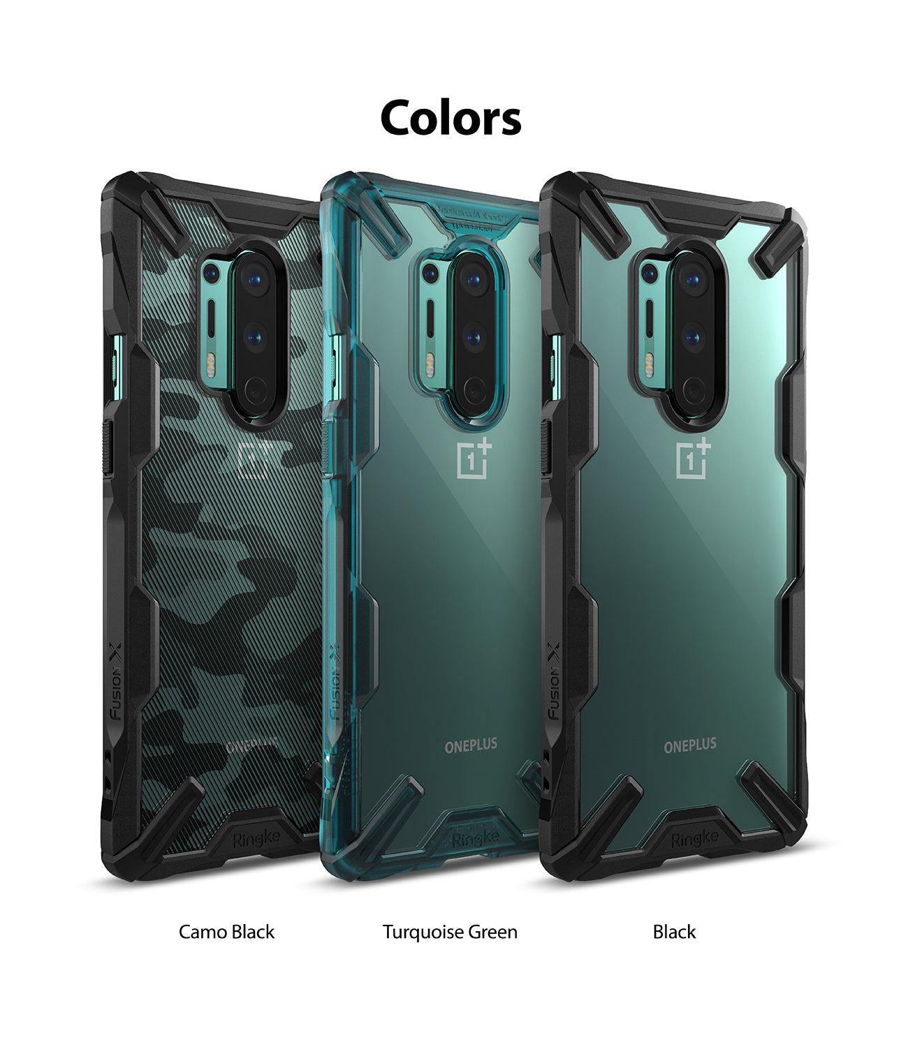 available in black, turquoise green, camo black
