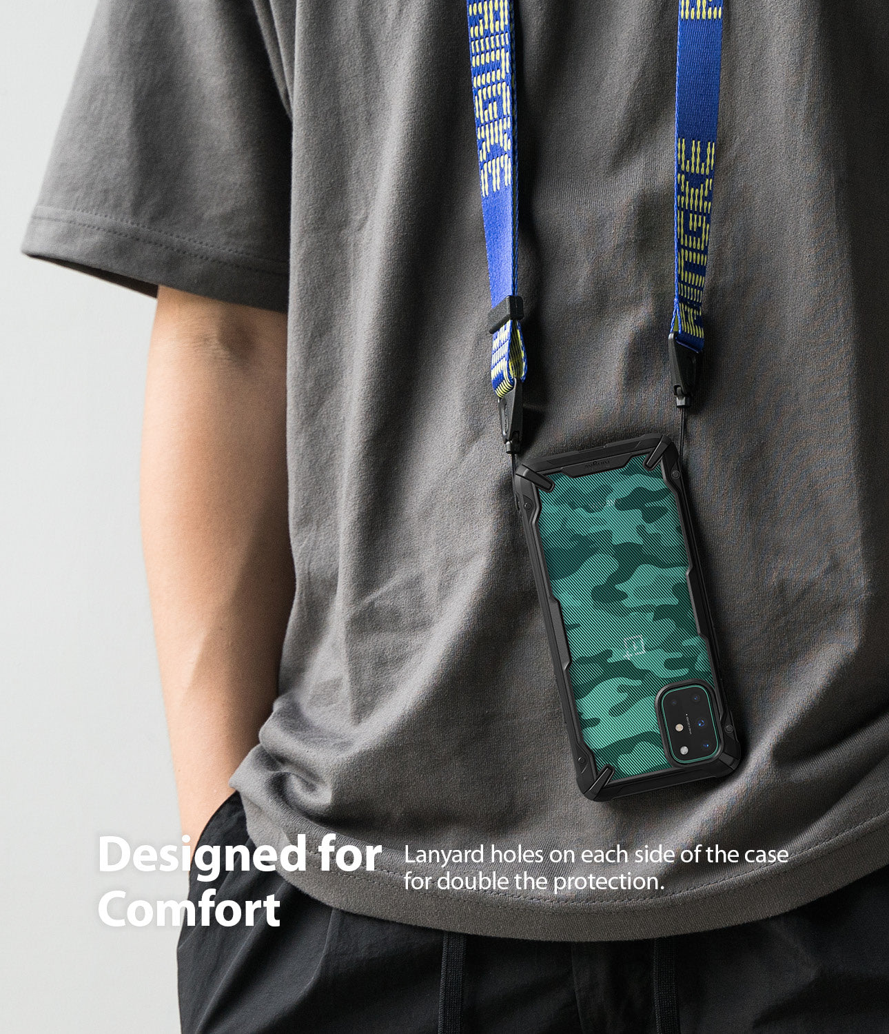 lanyard holes on each side of the case for double the protection