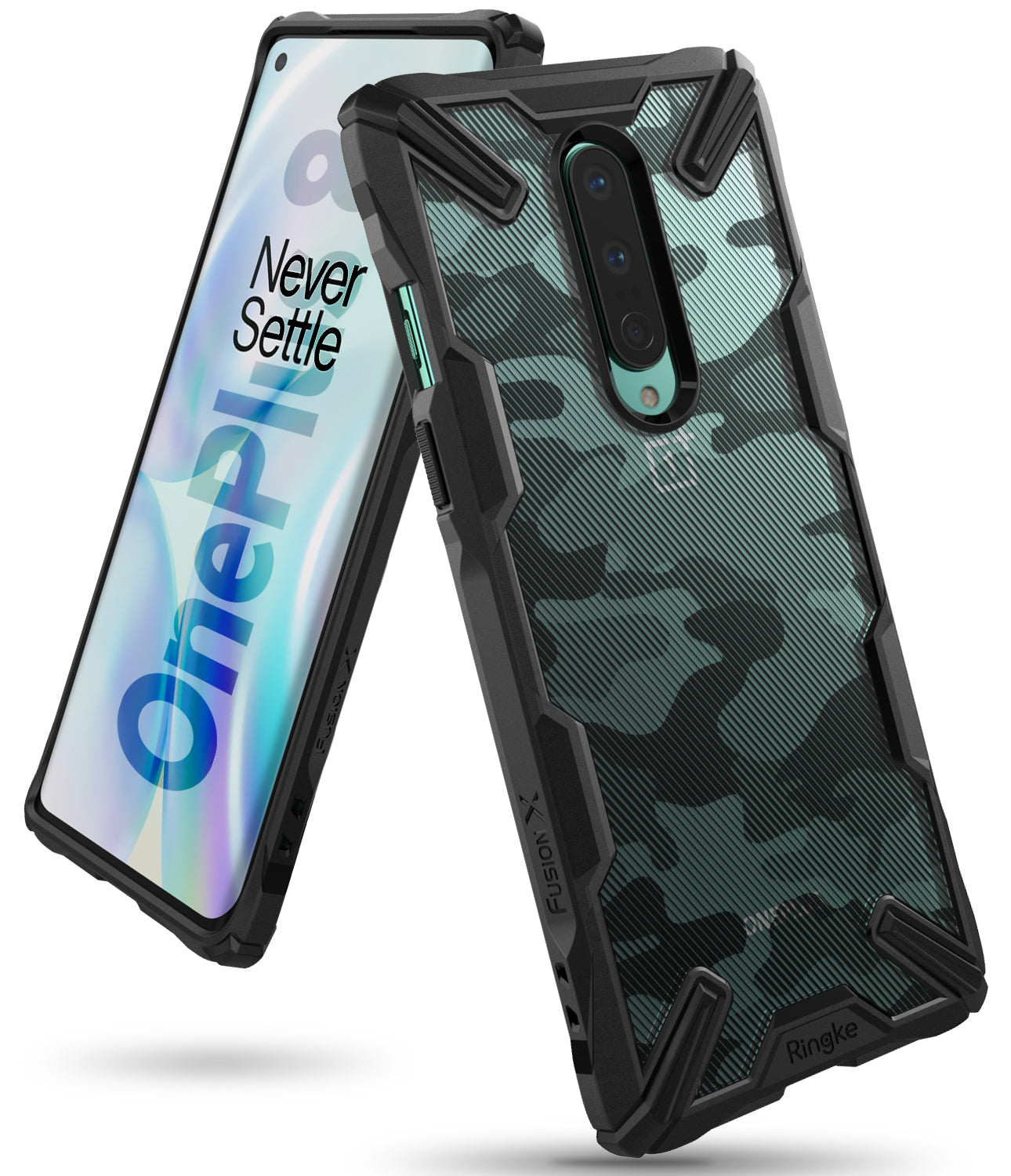 ringke fusion-x designed for oneplus 8 - camo black