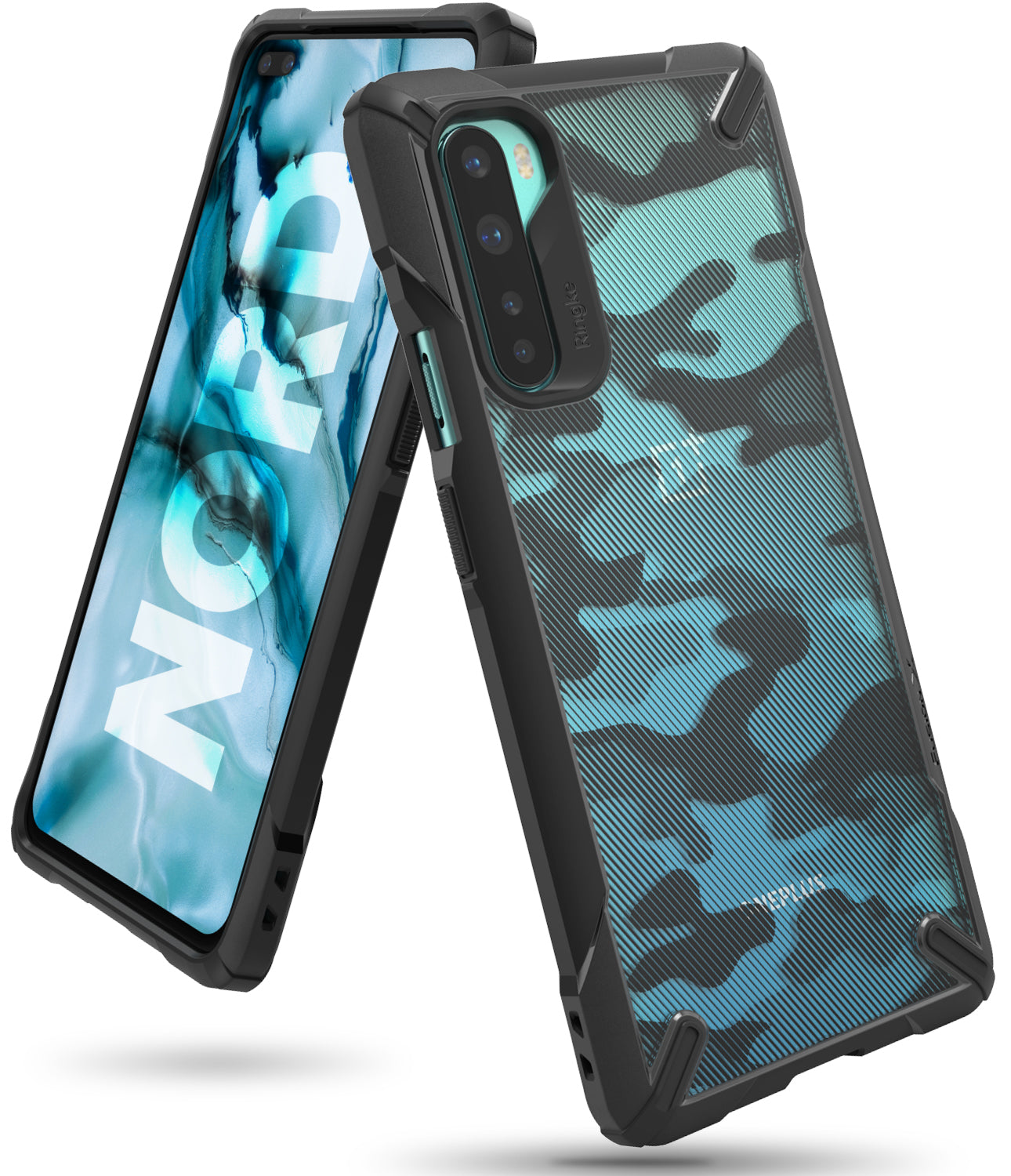 ringke fusion-x case designed for oneplus nord - camo black
