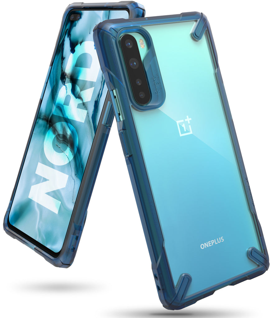 ringke fusion-x case designed for oneplus nord - space blue