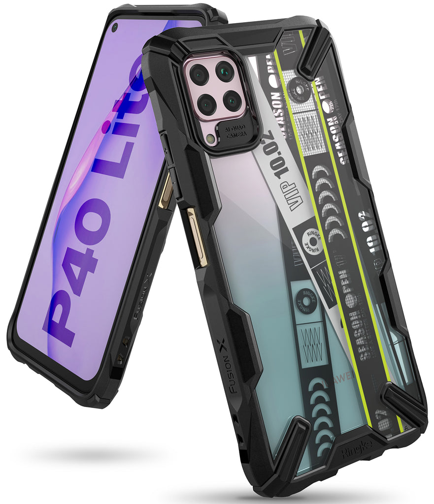 huawei p40 lite case - ringke fusion-x design - ticket band