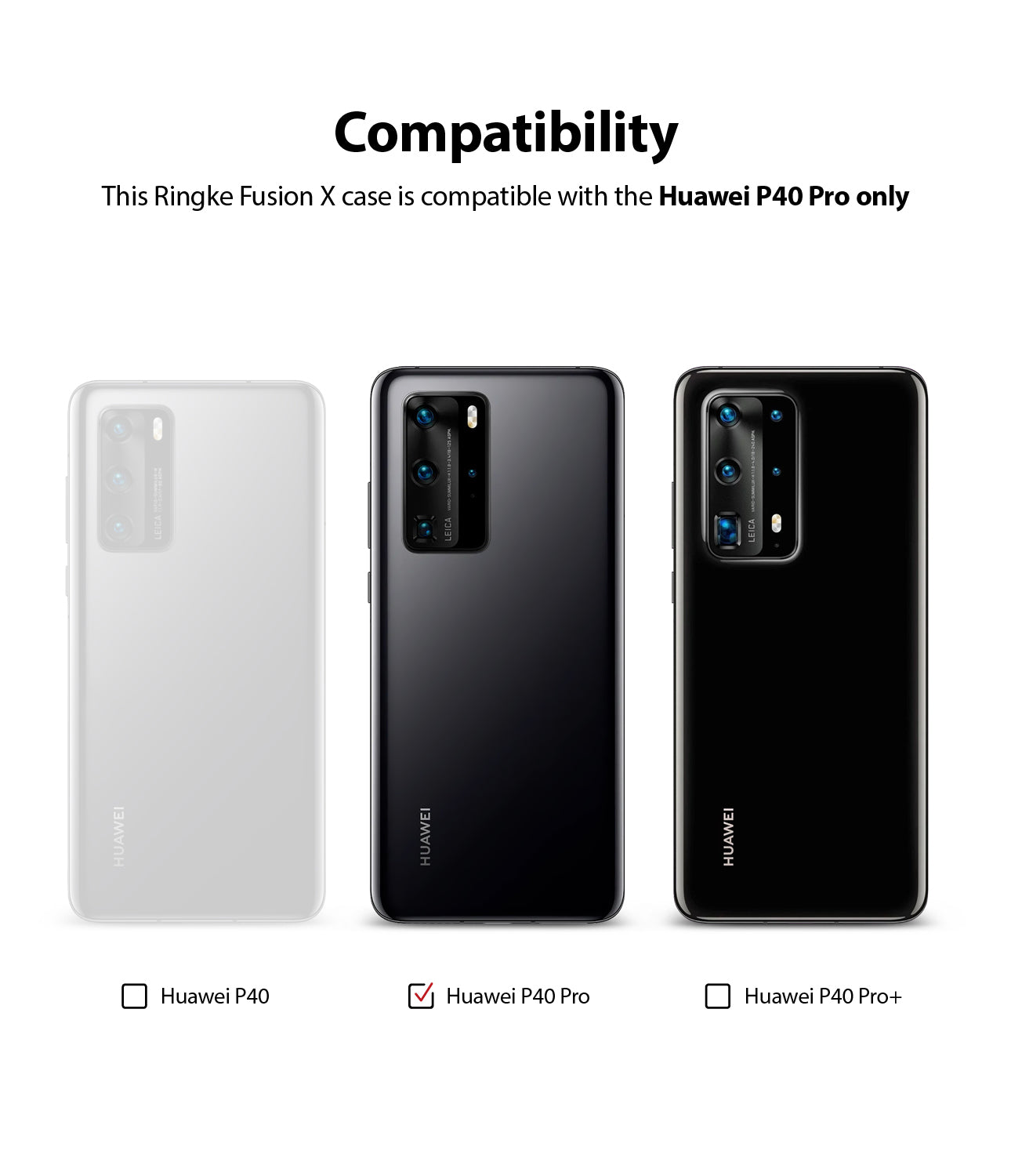 compatible only with huawei p40 pro