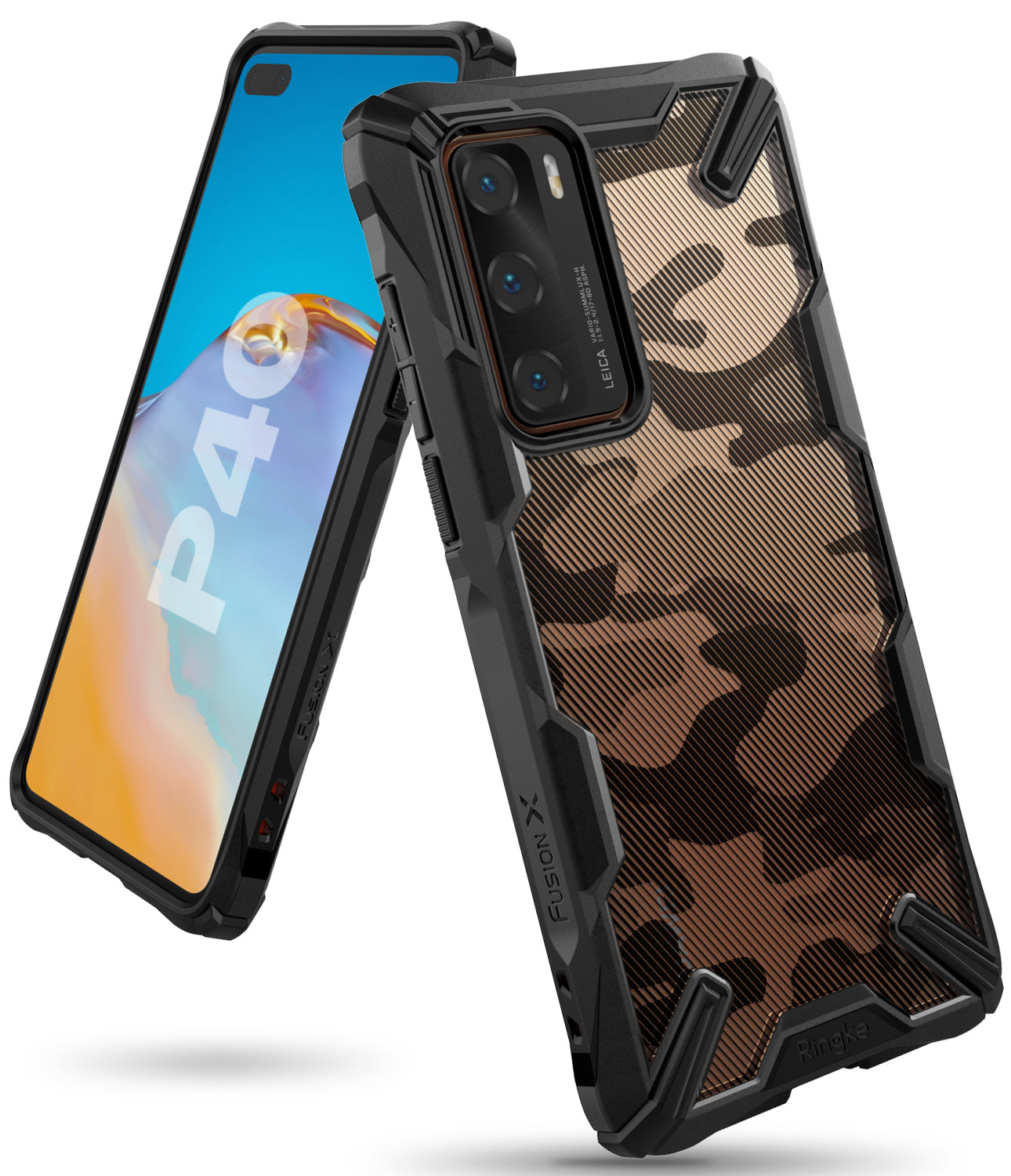 ringke fusion-x designed for huawei p40 - camo black
