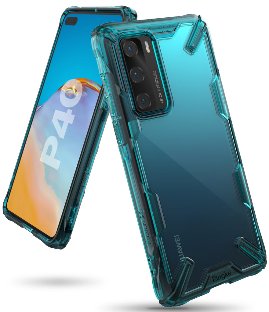 ringke fusion-x designed for huawei p40 - turquoise green