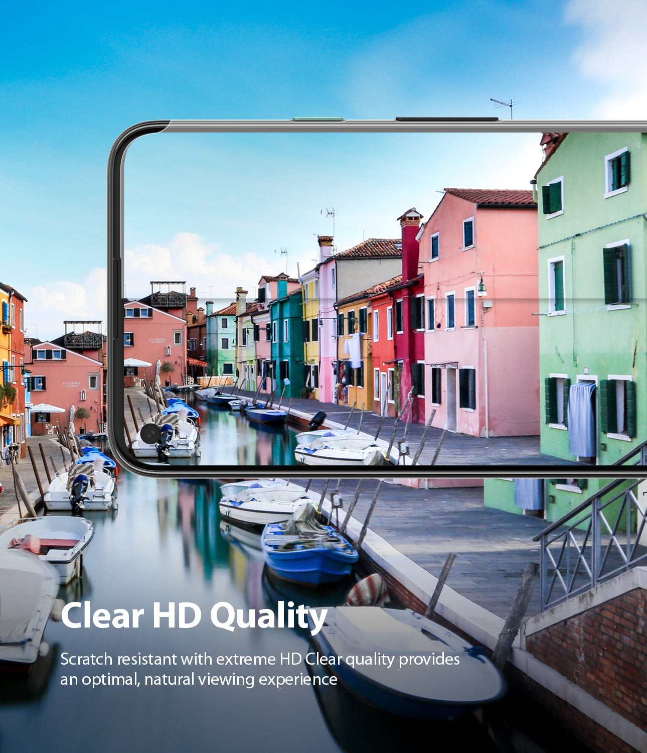 scratch resistant with extreme HD clear quality provides an optimal, natural viewing exprience
