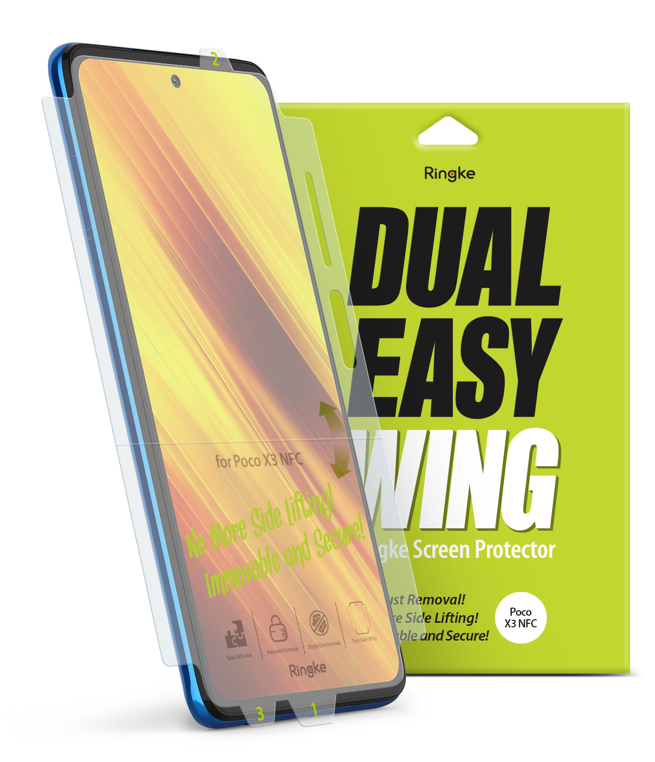 ringke dual easy film - poco x3 nfc screen protector
