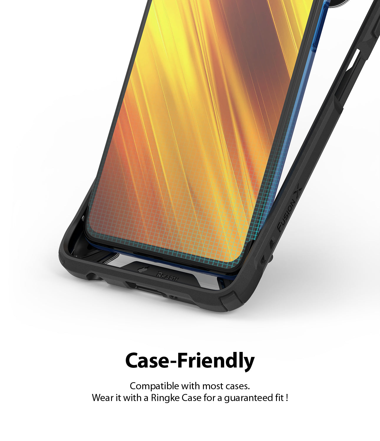 case friendly - compatible with most cases