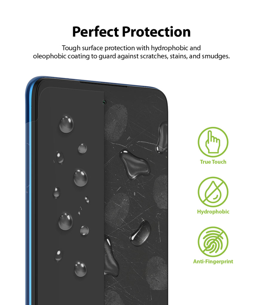 tough surface protection with hydrophobic and oleophobic coating to guard against scratches, stains, and smudges