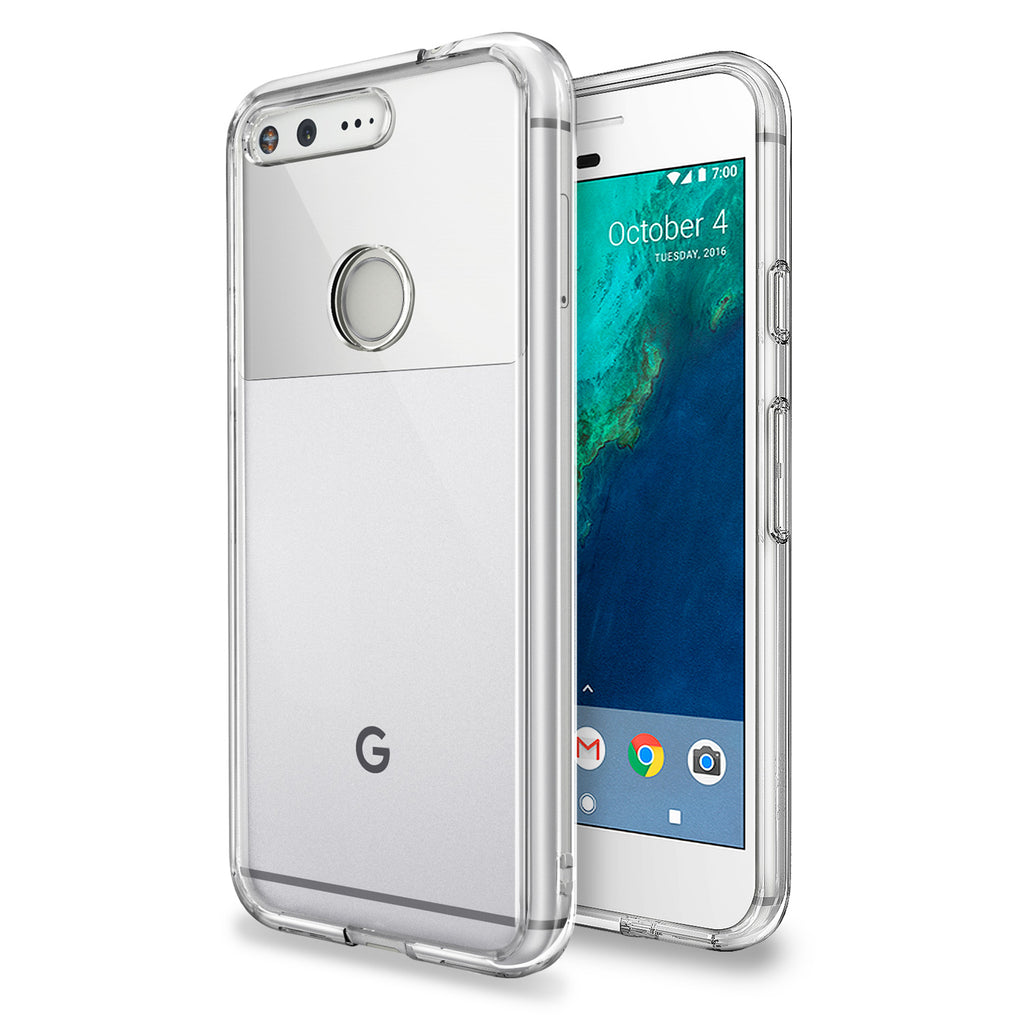 ringke fusion clear transparent hard back case cover for google pixel main